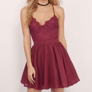 Tobi Lace Skater Dress